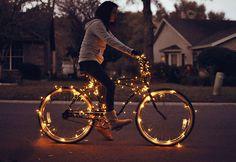 Christmas Lights Bike.... I want to do this