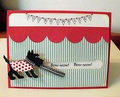 DIY Cards DIY Paper Craft : DIY Tutorial - Slide Card with the Scottie Dog Stamp set