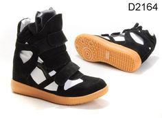 Isabel Marant High Top Sneakers Black White $189.00