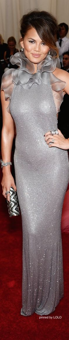Chrissy Teigen in Ralph Lauren 2014 Met Gala Red Carpet | The House of Beccaria~