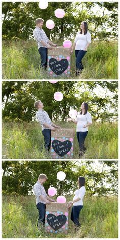 Gender Reveal Photoshoot   @KenziPhotography