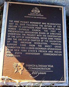 Abbe Picquet Monument Re-dedication Ogdensburg, NY Photo by Bob Gilbert, Tempe, AZ