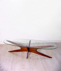 "Adrian Pearsall ""Jacks"" walnut coffee table"