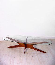 "Adrian Pearsall ""Jacks"" walnut coffee table"