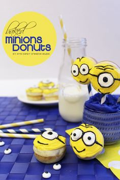 recipe for mini Minions Donuts on Eye Candy Creative Studio