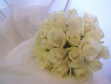 White rose posy with diamantes