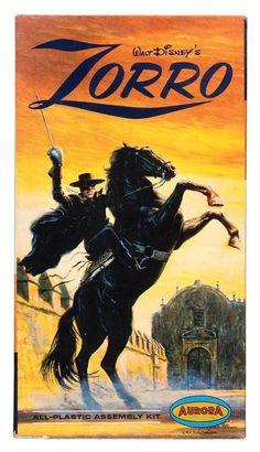 Aurora Zorro - This kit and The Lone Ranger and Polar Lights Headless Horseman are all based on the same horse kit, Aurora's White Stallion!