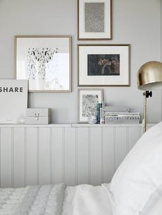 Panelling with shelf