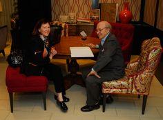 David Easton and designer Mary Douglas Drysdale