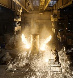Rolls Casting. in the Foundry, they casting rolls for rolling mill  with different composition, improving more resistence.