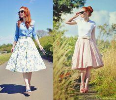moda evangélica: saia avase estilo vintage