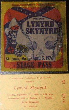 Lynyrd Skynyrd, Rockn Roll, St Louis, 1970s, Baseball Cards