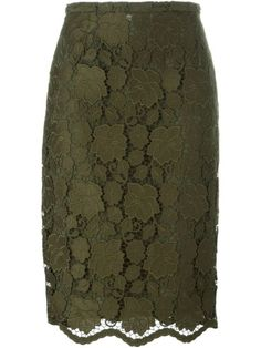 Shop Nº21 floral lace pencil skirt in Dell'oglio from the world's best independent boutiques at farfetch.com. Shop 400 boutiques at one address.