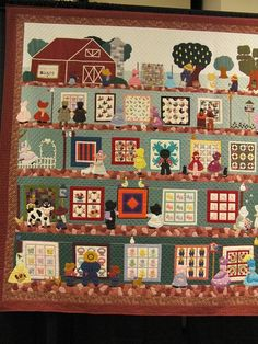 American quilters and Their Quilts by Rosemary Youngs - Oh what fun! American quilters and Their Quilts by Rosemary Youngs - Small Quilts, Mini Quilts, Strip Quilts, Quilt Blocks, Quilting Projects, Quilting Designs, Quilting Ideas, Farm Quilt, Tractor Quilt