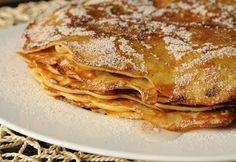 7 pompázatos PALACSINTA, ami pikk-pakk elkészül Breakfast Recipes, Dessert Recipes, Crepe Cake, Hungarian Recipes, Hungarian Food, Mille Crepe, Sausage Recipes, Crepes, Ale