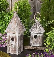 Birdhouses and feeders for the garden -