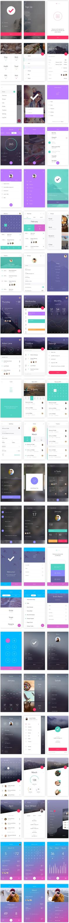 TweetSumoMe Friends, today's featured freebie is a smashing mobile app ui kit called DO. The kit, created by InvisionApp, is for free for Photoshop and Sketch. It's got over 130 stunning screens, 10 complete themes,
