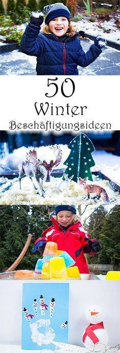 50 employment ideas for children in winter- 50 Beschäftigungsideen für Kinder im Winter 50 Winter Employment ideas for children inside and outside – crafts, games, painting in winter for Christmas and New Year, games with ice and snow and much more - Winter Diy, Winter Crafts For Kids, Crafts For Girls, Toys For Girls, Diy For Kids, Winter Activities, Family Activities, Children Activities, Outdoor Activities