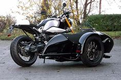 "BMW R nineT with sidecar ""Meteor"" - Müller-Gespanne #motorcycles #bratstyle #motos 