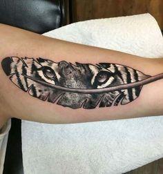 Tiger Tattoo Designs That Will Blow Your Mind Away - Beste Tattoo Ideen Future Tattoos, Love Tattoos, Beautiful Tattoos, New Tattoos, Body Art Tattoos, Dragon Tattoos, Small Tattoos, Tatoos, Tigeraugen Tattoo