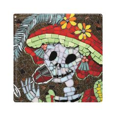 Day of the Dead Ceramic Tile / Coaster  Lucia is by JuanisDead, £12.00