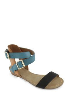 EXTREME by Eddie Marc Holly Tri-Color Buckle Sandal by Find Your Sole Mate on @HauteLook