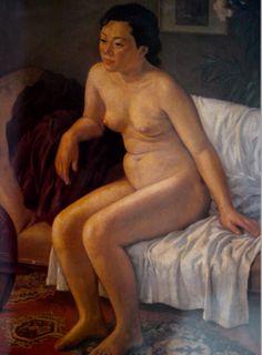 """박득순 """"나부좌상"""" 1960 (97x130)"""