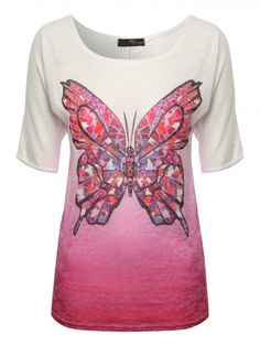 Mosaic Butterfly Print Top