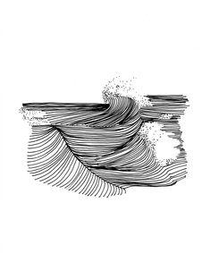 The Minimalist Wave, l'art hypnotique d'Alain Bourdon. Rencontre The Minimalist Wave, l'art hypnotiq Inspiration Art, Art Inspo, Ink Illustrations, Illustration Art, Art Sketches, Art Drawings, Stylo Art, Wave Drawing, Ocean Drawing