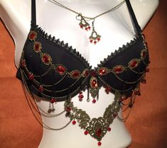 Red Birthday Party, Rave Festival, Fantasy Jewelry, Edgy Outfits, Cabaret, Brass Chain, Burlesque, Ballet Flats, Gothic