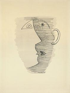 Man Ray The Mug Drawing III, 1943 Galerie Francesco Vangelli de'Cresci