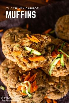 Zucchini carrot muffins are delicious, flavorful with just a little spice, and perfectly moist. Great for breakfast or anytime! Carrot Bread Recipe, Carrot Cake Muffins, Best Bread Recipe, Pastry Recipes, Muffin Recipes, Cooking Ingredients, Recipe Steps, Healthy Muffins, Lunch Snacks
