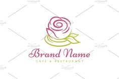 Rose Cup Logo Templates Logo design with concept of stylized cup designed as rose blossom. Additionally, saucer bellow cup a by Zack Fair Design