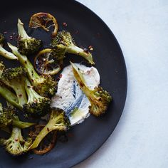 This wintry salad is a meal in itself, combining spicy, lemony roasted broccoli with a tangy, Middle Eastern-inspired yogurt sauce.