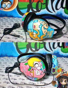 Audífonos pintados a mano, personalizados