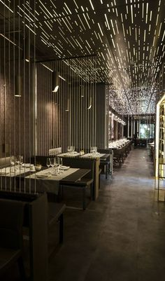 Come get amazed by the best restaurant lighting and furniture collection for your luxury restaurant interior design proj Restaurant Kitchen Design, Modern Restaurant, Luxury Restaurant, Restaurant Lighting, Restaurant Furniture, Restaurant Restaurant, Restaurant Interior Design, Shop Interior Design, Cafe Design