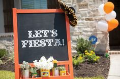 fiesta party sign