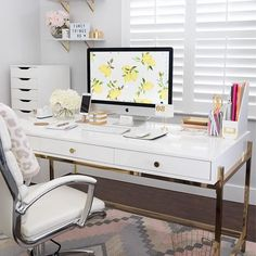 Home Office Decor Inspiration is definitely important for your home. Whether you pick the Office Design Corporate Workspaces or Office Design Corporate Business, you will create the best Home Office Design Modern for your own life. Decor, Home Office Desks, Home Office Decor, Cute Office Supplies, Cute Office, Interior, Bedroom Design, Home Decor, Apartment Decor