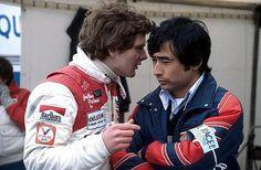 European Formula Two Championship Jonathan Palmer (GBR), Ralt-Honda talks with Hiroshi Yasukawa (JPN) Bridgestone. European Formula Two Championship, 1982 - © Sutton Motorsport Images