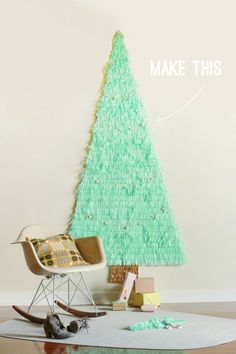 Christmas Tree Wall Art, perfect for apartments and dorms