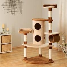 Kratzbaum Betty für Katzen - erleben und testen - www. Sisal, Cat House Diy, Cat Lover, Cat Tree, Woodworking, Cats, Tonne, Furniture, Form