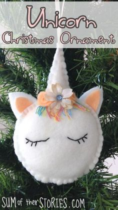 Make your own unicorn ornament