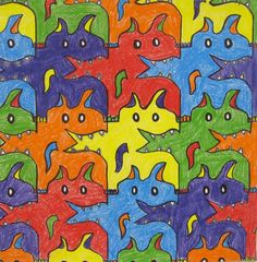 Art with Ms. Gram / 4th Grade / Tessellation Monsters