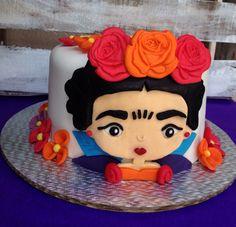Frida Kahlo fondant cake
