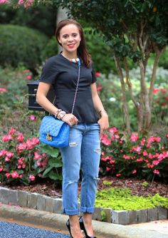35761954408b How to Wear Distressed Jeans to Work. Nicole to the Nines  ...