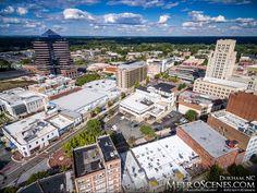 Durham North Carolina Aerial Photograph