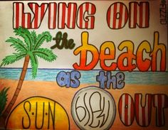 "Rock me: One direction! Lyrics drawing I did a while ago. ""Lying on the beach as the sun blew out"""
