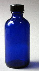 My favorite bottle for hand crafted herbal oils 4 oz. Cobalt Blue Bottle with Cap