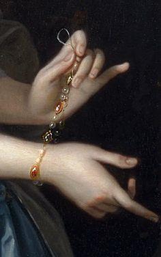 Thomas Hudson - Portrait of a Woman, Probably Elizabeth Aislabie (detail)
