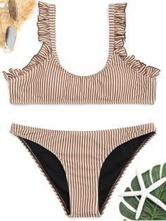 Up to 80% OFF! Frilled Hem Striped Bikini Set. #Zaful #Swimwear #Bikinis zaful,zaful outfits,zaful dresses,spring outfits,summer dresses,Valentine's Day,easter,super bowl,st patrick's day,cute,casual,fashion,style,bathing suit,swimsuits,one pieces,swimwear,bikini set,bikini,one piece swimwear,beach outfit,swimwear cover ups,high waisted swimsuit,tankini,high cut one piece swimsuit,high waisted swimsuit,swimwear modest,swimsuit modest,cover ups @zaful Extra 10% OFF Code:ZF2017